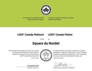 Leed Platinum - Square du Nordet - copie